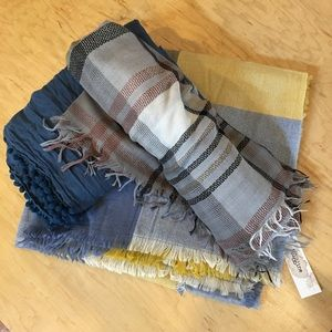 Blanket Scarf Bundle of 3 new, soft & great gifts